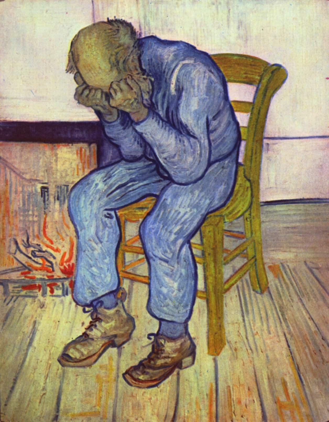 Treurende oude man (1890)